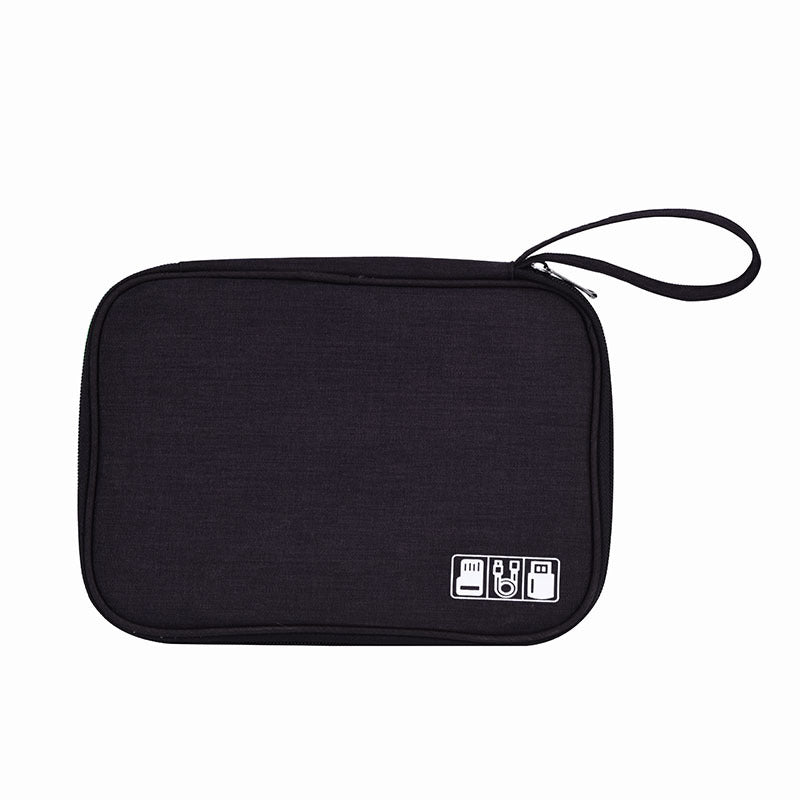 Electronic Digital Storage Bag Cationic Data Cable Storage Bag Multi-Function Flat Digital Bag