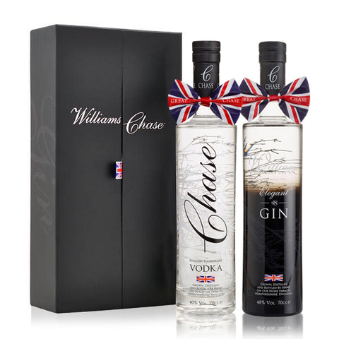 Chase Original Vodka and Williams Elegant Gin 70cl Duo Box