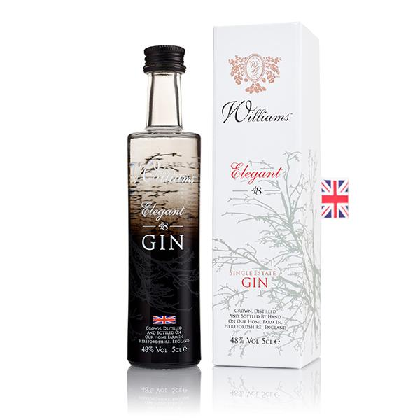 Williams Elegant 48 Gin 5cl, 48%