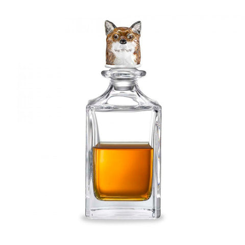 Fox Head Crystal Decanter