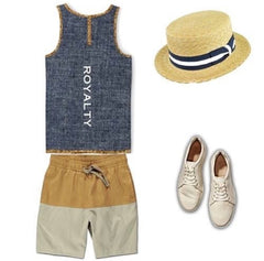 Summer, Spring, Hot, Trousers and Shorts, Shoes, Tank top, Straw Hat
