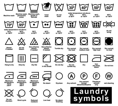 Grand Royalty Garment Care | Fabric and Garment Care Symbols