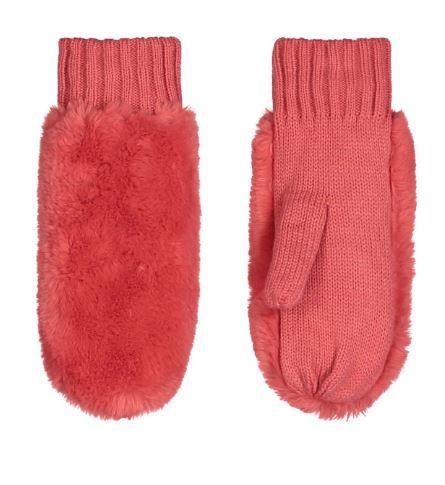 Rino & Pelle oxo faux fur mittens - Lucindas on-line