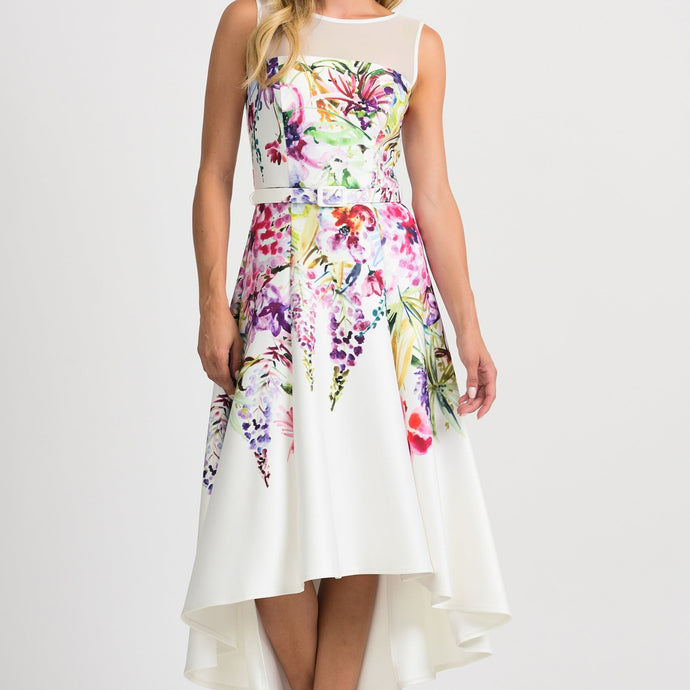 Joseph Ribkoff floral summer dress 201219 - Lucindas on-line