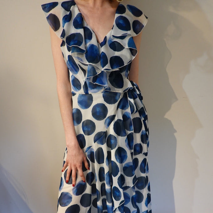 Argiddo Polka Dot Wrap Dress - Lucindas on-line