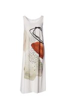 Load image into Gallery viewer, Crea Concept Linen Abstract Print Flowy Dress
