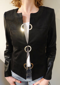 Extenzo Faux Leather Jacket  MAP - Lucindas on-line