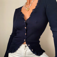 Load image into Gallery viewer, Rosemunde lace cardigan top 5420 - Lucindas on-line