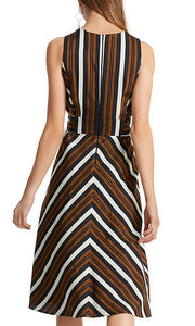 Marc Cain dress with lurex stripes LC21.32 W22