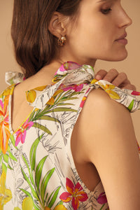 Leo & Ugo Botanical Print Summer Top