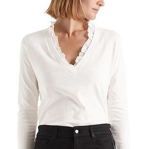 Marc Cain top with frills NC48.27 J14