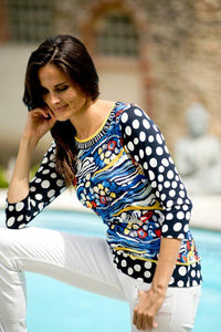 Olivier Phillips Blue Quirky Print Top