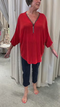 Load and play video in Gallery viewer, French designer tunic top with zip details