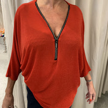 Load image into Gallery viewer, French designer tunic top with zip details - Lucindas on-line
