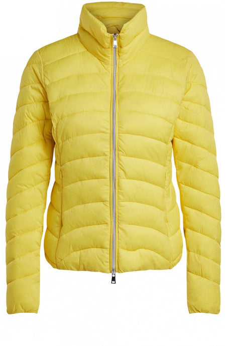 Oui yellow quilted jacket - 69126 - Lucindas on-line