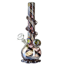 Load image into Gallery viewer, Fumed Soft Glass Bong - Bulb Base - 12""