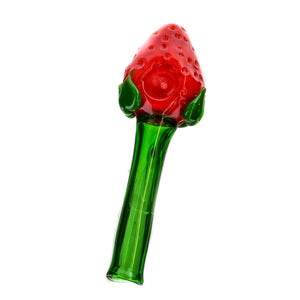 "5"" Strawberry Hand Glass Pipe - MoroKush"