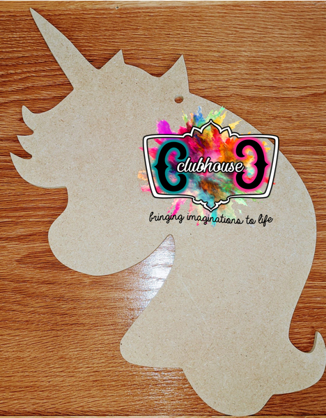 Rainbow Unicorn *Unpainted Blank MDF Board Cutout*