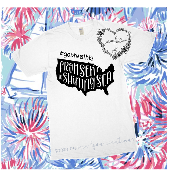Sea to Shining Sea - Patriotic Design Tee *Made to Order*
