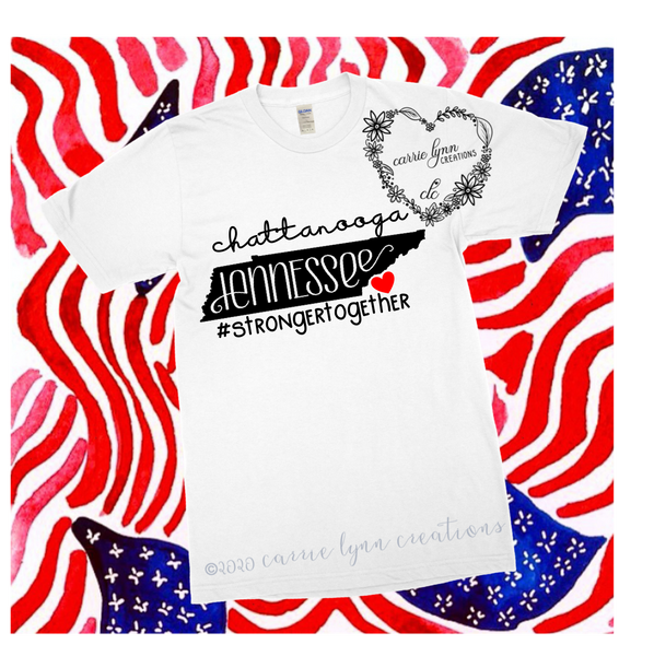 Chattanooga, Tennessee - Signature Heart Tee *Made to Order*
