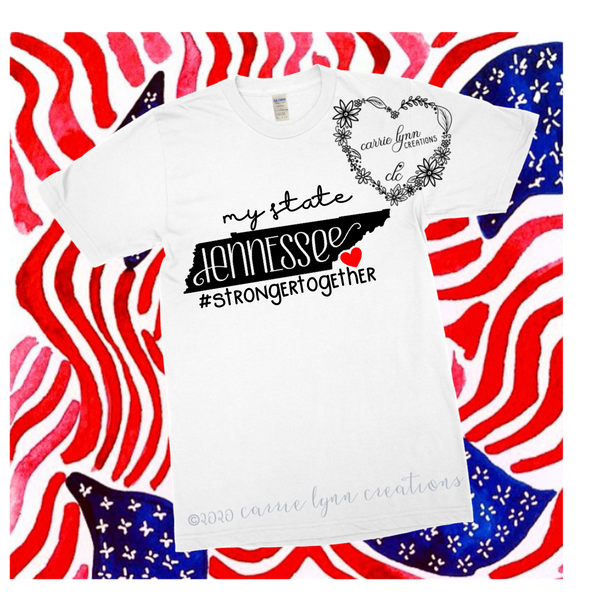 My State Tennessee - Signature Heart Tee *Made to Order*