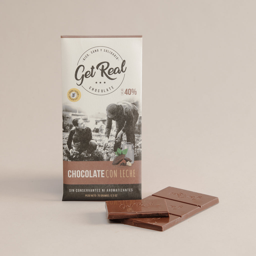 Barra de Chocolate a base de cacao Orgánico