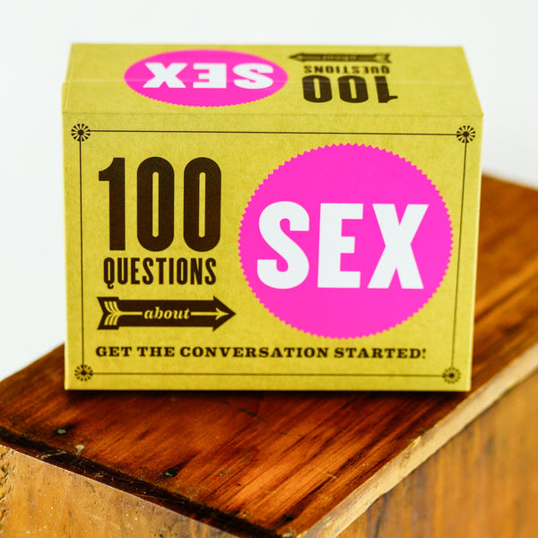 Chronicle Books 100 Questions About Sex Card Game