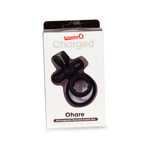 Screaming O Charged Ohare Rechargeable Vibrating Cock Ring Black Packaging
