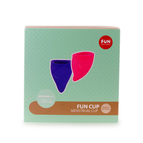 Fun Cup Size A+B Explore Menstrual Cup Kit