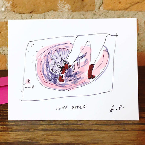 Love Bites Greeting Card