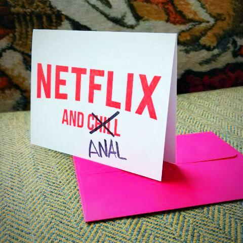 Netflix and Anal Greeting Card