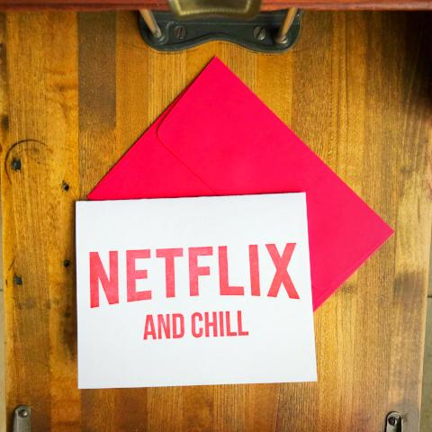 Netflix and Chill Greeting Card
