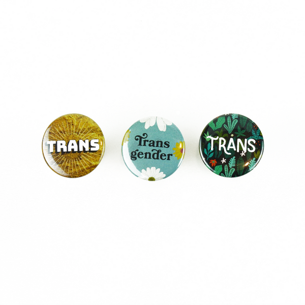Trans Buttons 3 Pack