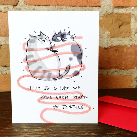 So Glad Cats Greeting Card