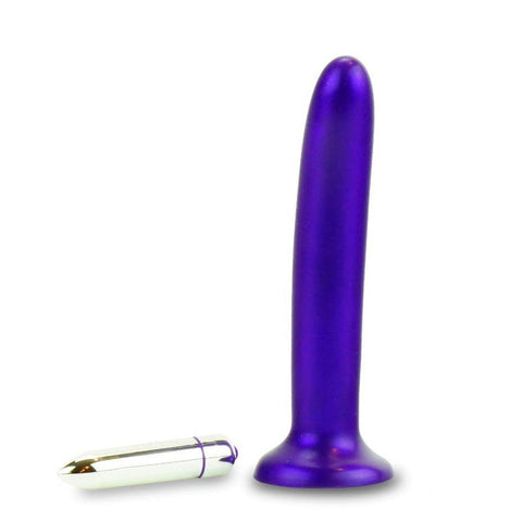 Tantus Leisure Dildo Purple and Vibrating Bullet
