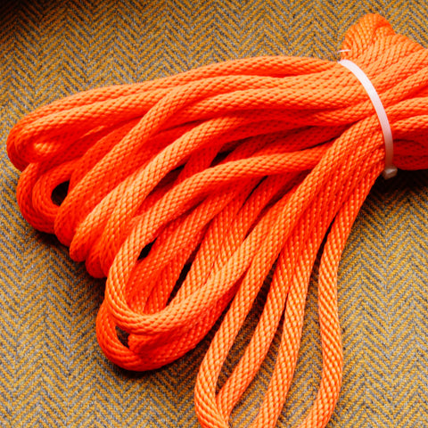 Agreeable Agony 5/16 inch Solid Braid MFP Bondage Rope Orange