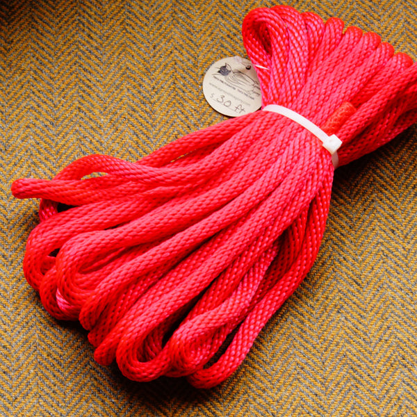 Agreeable Agony 5/16 inch Solid Braid MFP Bondage Rope Red