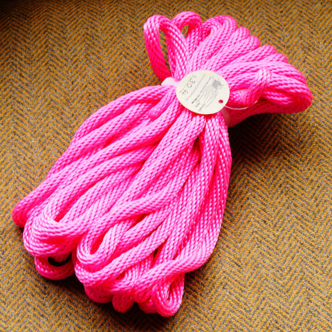 Agreeable Agony 5/16 inch Solid Braid MFP Bondage Rope Hot Pink