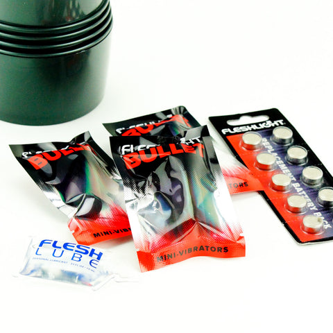 Fleshlight Vibro Stroker Bullets and LR44 Button Cell Batteries