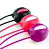 Fun Factory Smartballs Uno Pelvic Exercisers Black Pink, White Grape, and White Red
