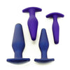Fuze Pleasure Plug Butt Plug 1 Purple, 2 Midnight Blue, 3 Purple, 4 Midnight Blue