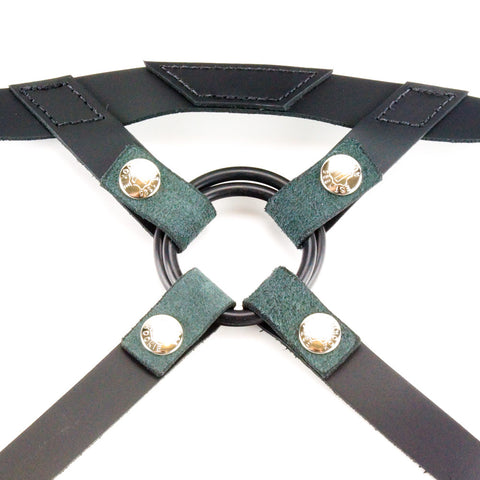 Kookie Int'l Leather Regimental Harness Black Close Up