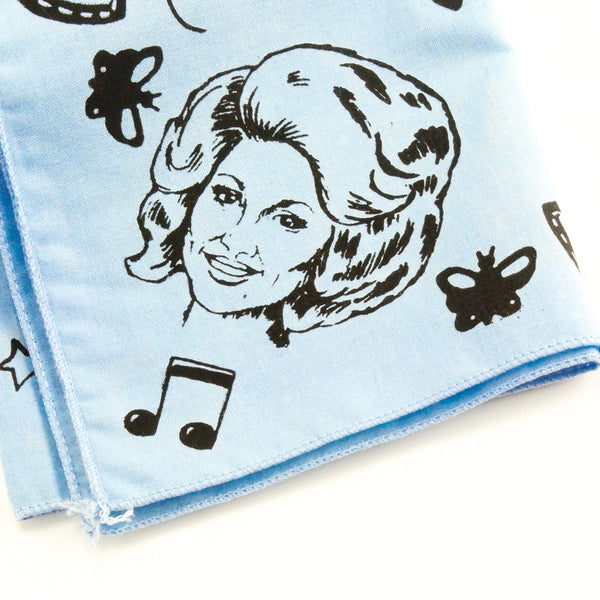 Mary Mack Dolly Hanky Light Blue