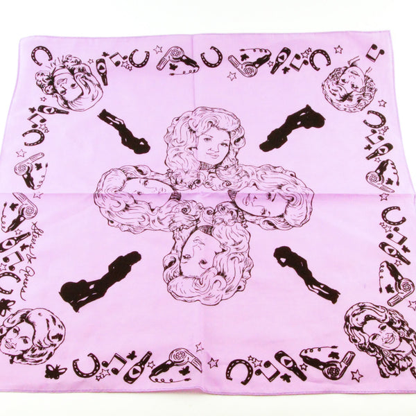 Mary Mack Dolly Hanky Lavender Black