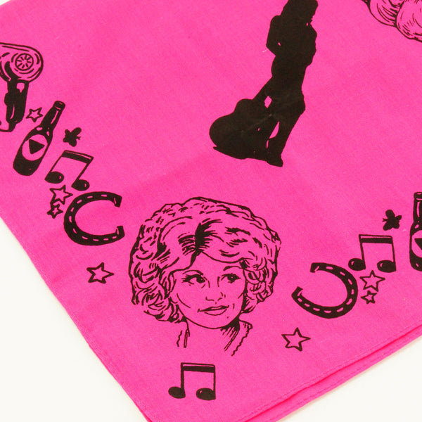 Mary Mack Dolly Hanky Magenta Black