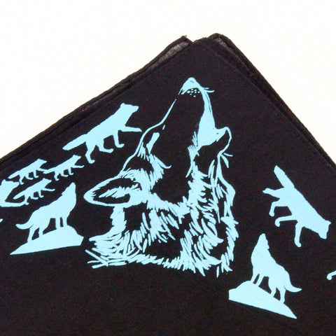 Mary Mack Wolf Hanky Black Blue