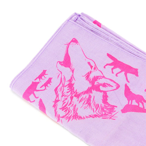Mary Mack Wolf Hanky Purple Pink
