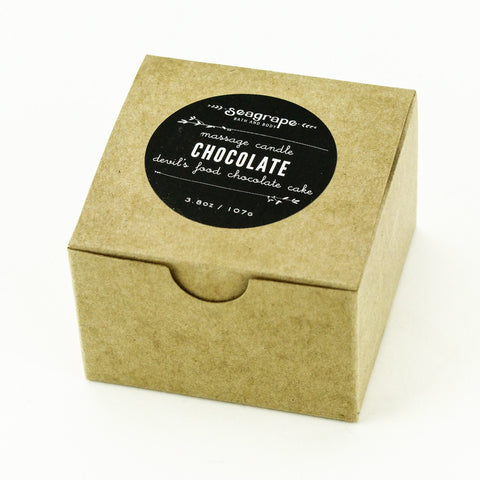 Seagrape Massage Candle Chocolate Packaging