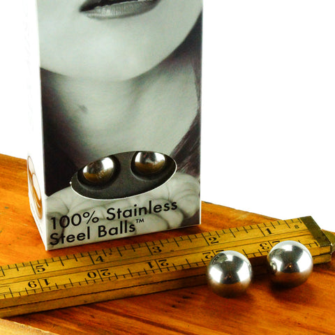 Sex & Mischief Steel Kegel Balls Pelvic Exerciser Scale Image and Packaging