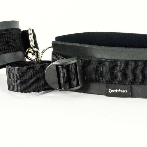 Spottiest Thigh and Wrist Cuff Set Black Close Up